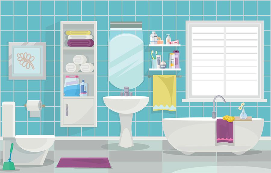 トイレとフロの風水イメージ図
