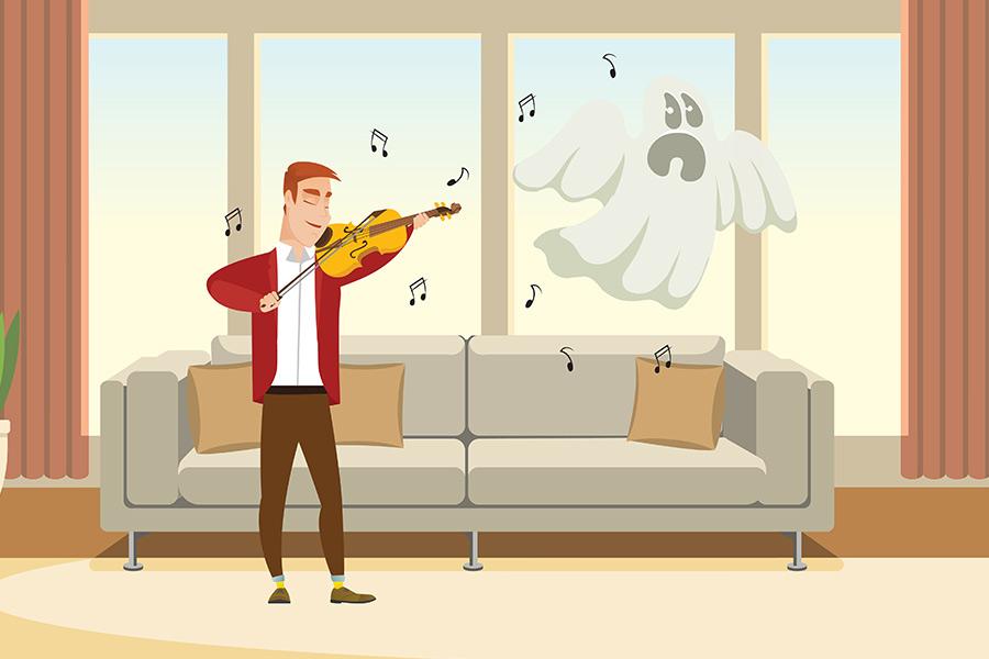 音楽が霊を遠ざける