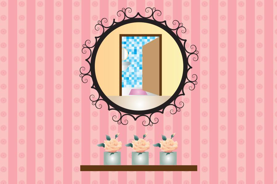 玄関正面の鏡