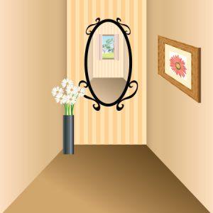 狭い場所の鏡