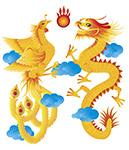 龍と鳳凰のイメージ