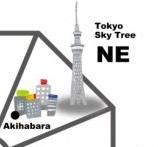 東京の北東を示した図