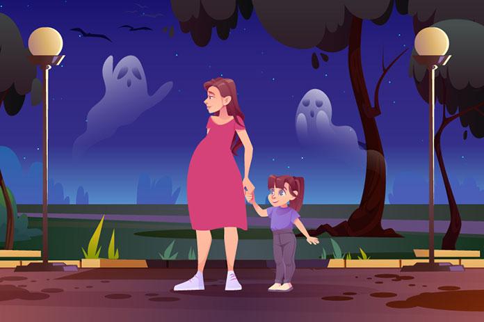 妊婦と子供と霊