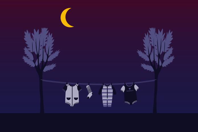 夜の洗濯もの